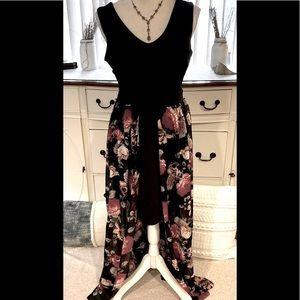 Rose Long Maxi Dress Large Pretty
